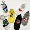 [Cosplacool] divertido creativo rana de dibujos animados donald duck mujer calcetines calcetines japonés harajuku lindo corazón de algodón calcetines de mujer