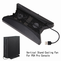 NI5L Vertical Stand Cooling Fan With 3 USB HUB For Playstation PS4 Pro Console With 3