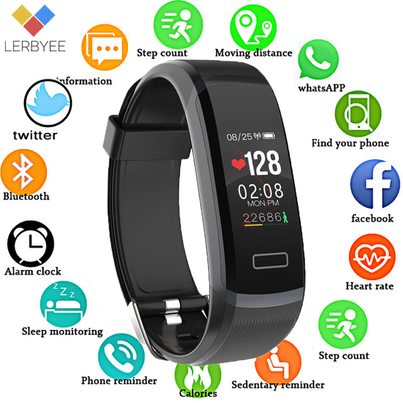 LERBYEE GT101 Fitness Tracker Watch Color Screen Smart Wristband Call Reminder Sport Bracelet Health Fitness Smart Wristband