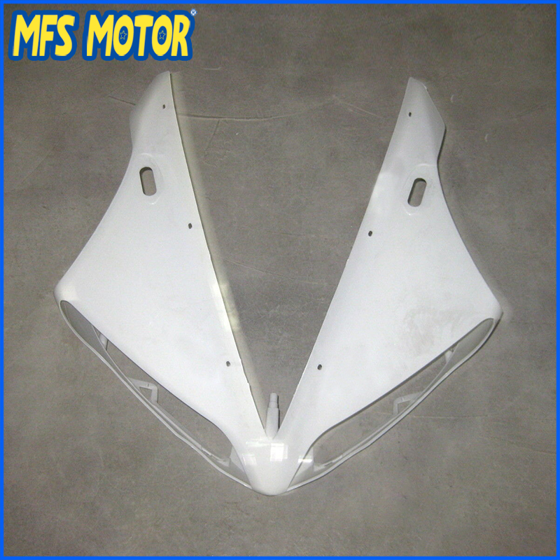 New Upper Fairing Unpainted Front Cowl Head For YAMAHA YZF R1 YZF-R1 2004 2005 2006 Motorcycle Accessories new upper fairing unpainted front cowl head for honda cbr 250 rr 2011 2012 2013
