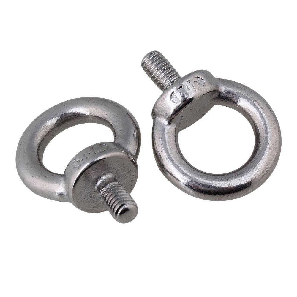 2 шт. 304 Нержавеющая сталь M6 кольцо Форма Винты болт серебряный европейский Стиль