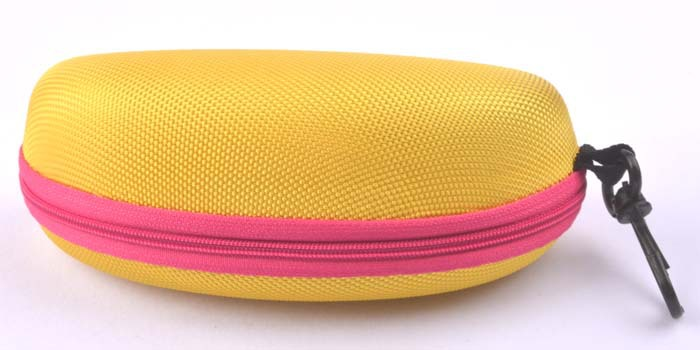 5 шт./лот солнцезащитные очки чехол для солнцезащитные очки с застежкой жесткий ЕВА модные очки поле 7 цветов - Цвет: Золотой