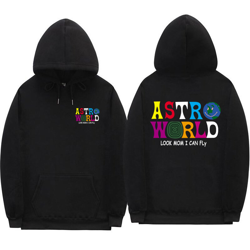 Casual Travis Scott Hoodie Sweatshirts Look Mom I Can Fly Letter Print Hoodies Men Women ASTROWORLD Hip Hop Swag Cotton Hoody(China)