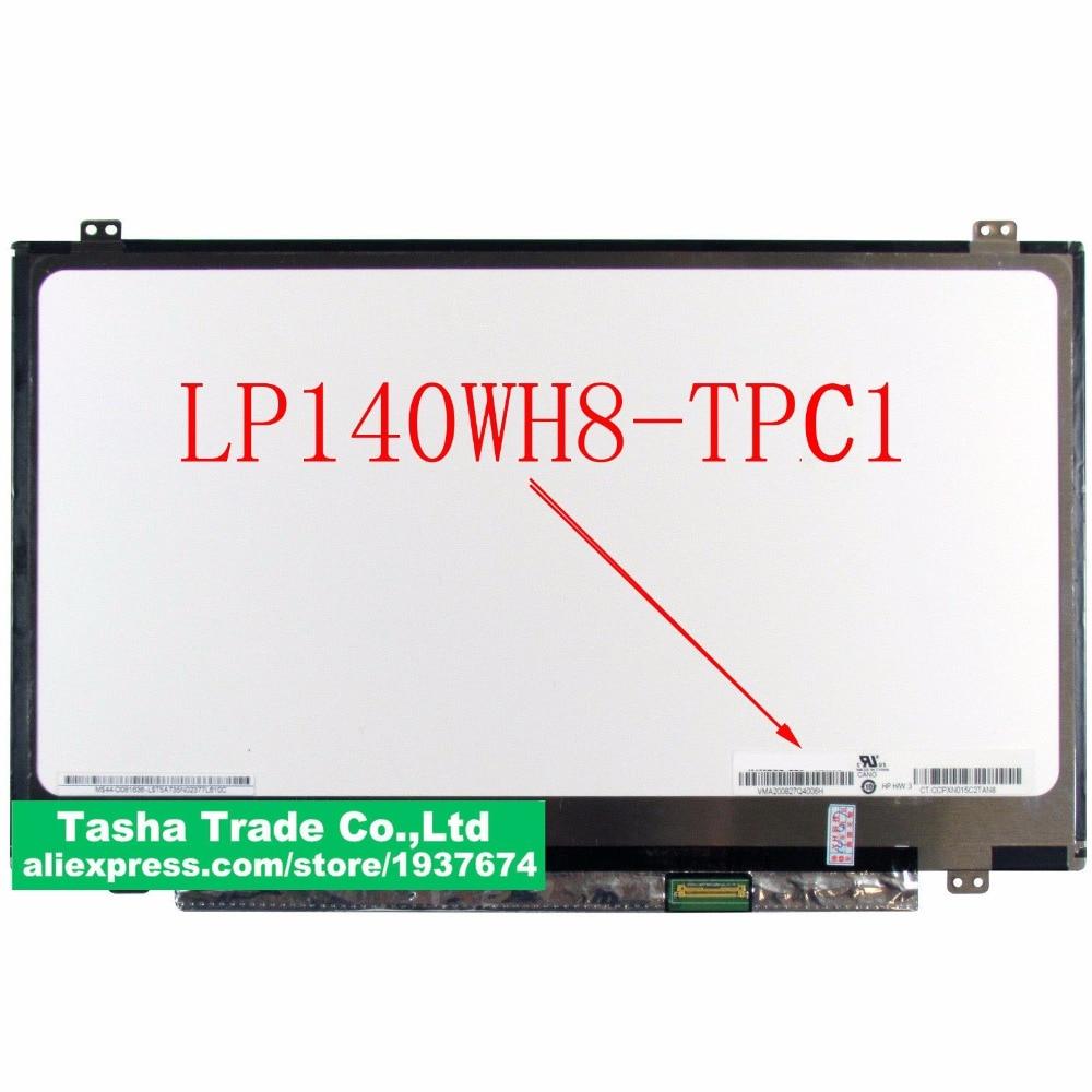 Original LP140WH8-TPC1 LP140WH8 TPC1 TFT LCD Screen LED Display Panel eDP 1366x768 30 pin цена и фото