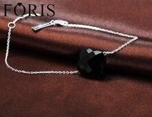Изысканный Four Leaf Clover Кристалл браслет 925 серебро браслет хороший для Для женщин подарок PK023