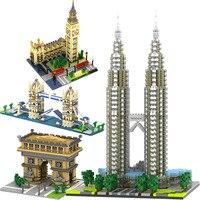 Technic Compatible City Architecture London Paris Town Bridge Building Blocks Children Assemble Bricks Toys