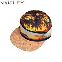 Naisleyブランド2017秋印刷パターンビーチココナッツツリー太陽帽子野球キャップ冬のヒップホップスナップバック男性帽子友人ギフト