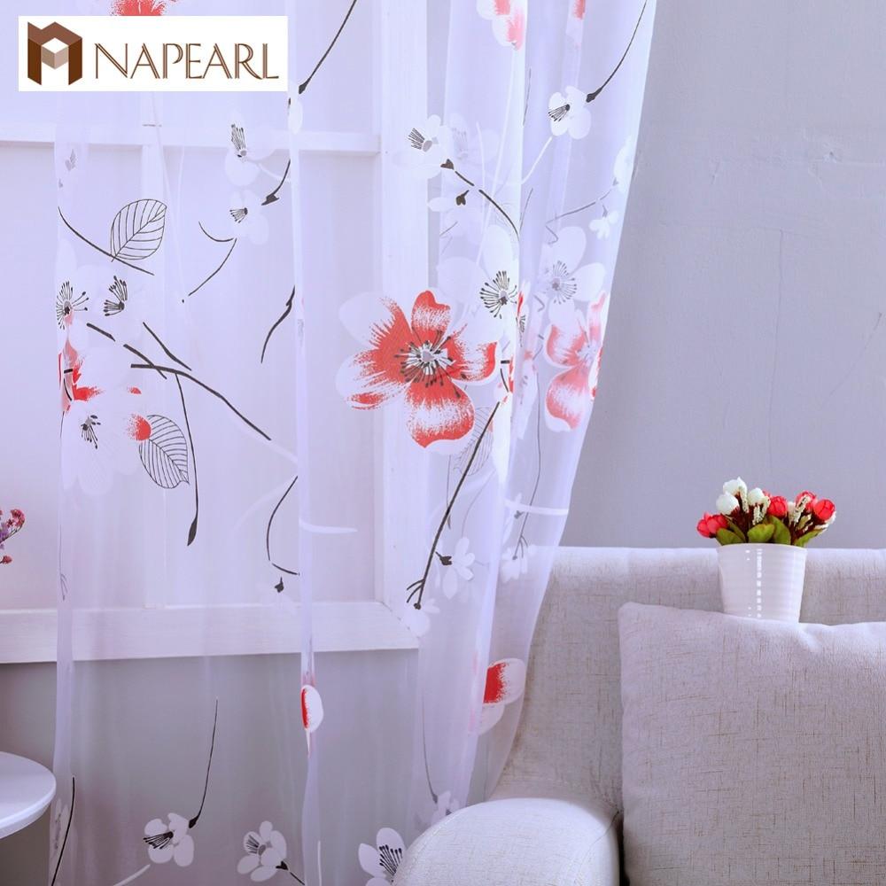 floral tulle cortinas dormitorio chico chica organza telas para el tratamiento de la ventana de