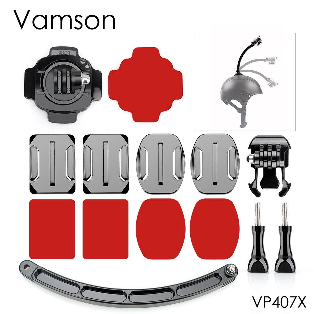 Helmet Extension Arm Kit 360 Ratation Mount Base For Xiaomi for Yi 4K for Gopro Hero 5 4 3+ for SJCAM for Eken H9R VP407X