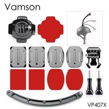 Kit de brazo de extensión para casco Base de montaje de carración 360 para Xiaomi Yi 4K para Gopro Hero 5 4 3 + para SJCAM para Eken H9R VP407X