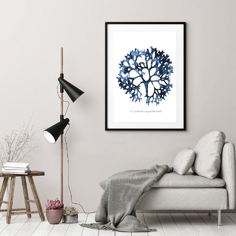 Sea Coral Print Living Room Decor