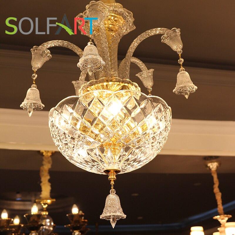 Solfart lighting baccarat chandelier clear glass modern for Small crystal chandelier for bedroom