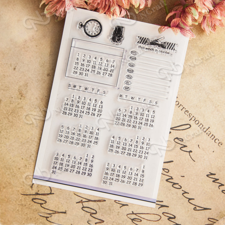 Calendar  transparent Clear Silicone Stamp/Seal for DIY scrapbooking/photo album Decorative clear stamp sheets school Kid gift lovely elements transparent clear silicone stamp seal for diy scrapbooking photo album decorative clear stamp sheets