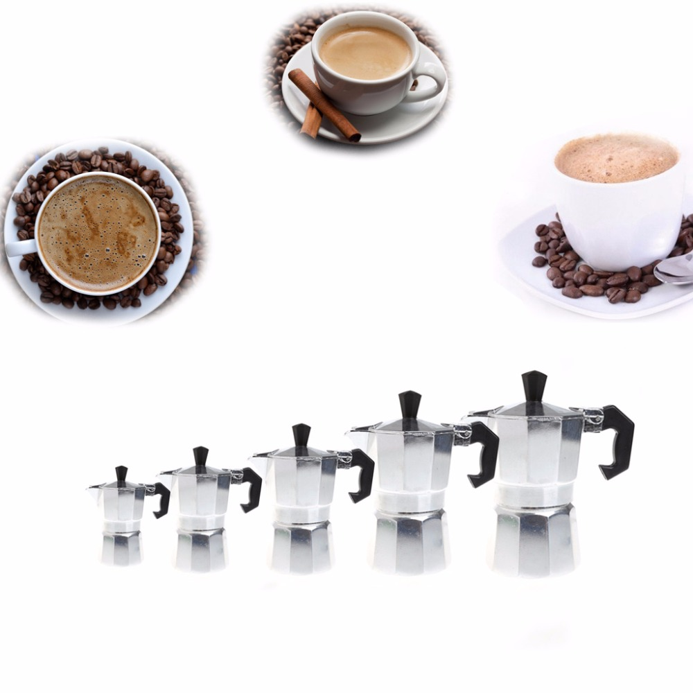 Aluminum 1/3/6/9/12 Cup Latte Mocha Coffee Pot Stove Top Espresso Maker Tool Easy Clean For Home Office Coffee & Tea Tools
