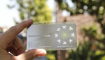 Metallic Color, metal business cards , 100pcs a lot  Deluxe Metal Business Card Vip Cards,Double-side free shipping  NO.3011