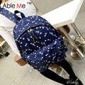 2017 Fashion Women Backpack Star Printing Korean Student School Bag Vintage Style Rucksack Women Large Capacity Travel Bag