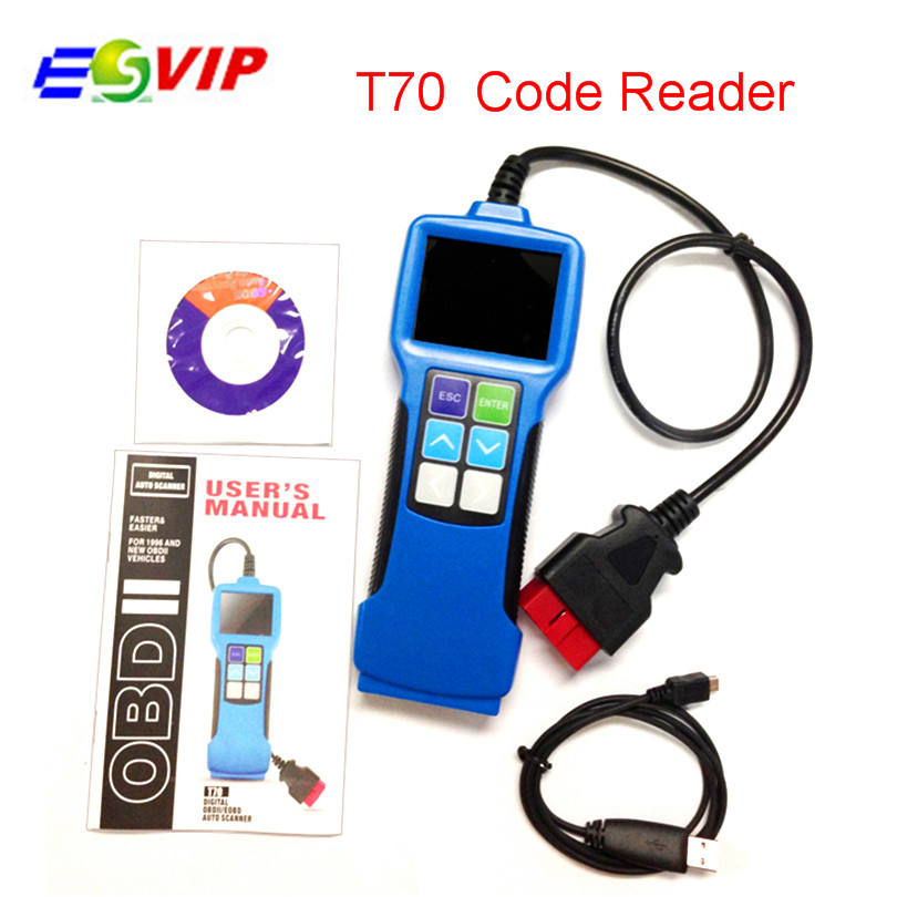 Vehicle Code Reader >> Us 56 9 5 Off Universal Fault Code Scanner Obdii Eobd Jobd Software Upgradeable Vehicle Code Reader Auto Scan Tool T70 Free Shipping In Car