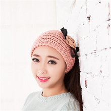 Women's Simple Fashion Flower Knitting  Hair Band JW336