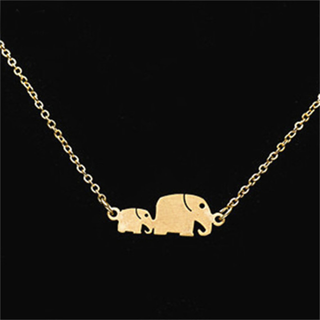 DIANSHANGKAITUOZHE 10Piece Baby And Mom Chunky Elephant Choker Necklace Women Animal Collares Women Jewelry Accessories