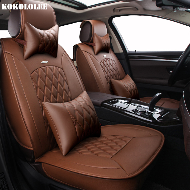KOKOLOLEE pu Leather Car Seat Cover For peugeot All Models 205 307 206 308 407 207 406 408 301 607 3008 4008 accessories custom car floor mats for peugeot all model 307 206 308 308s 407 207 406 408 301 508 2008 3008 4008 auto accessories car styling