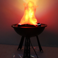 Table Top Flame Light Halloween Decoration for Party House Bar Brazier Lamp Artificial Flame Fake Fire