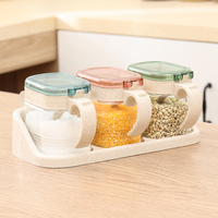 Kitchen Tools 1pcs Seasoning Storage Boxes Spice Jar Kitchen Condiment Box Spices Storager Wall Hanging Kitchen Containers