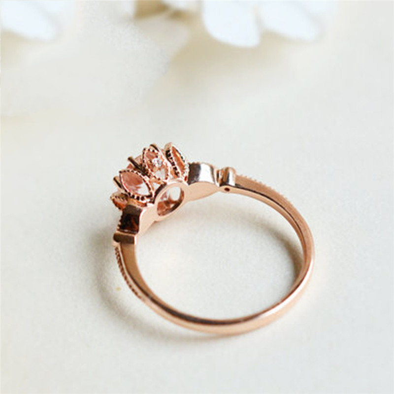 Engagement Rings Jewelry & Accessories Romad Vintage Flower Rings In Blue Crystal Bridal Finger Rings For Wedding Engagement Size 9 Women Fashion Promise Rings R4