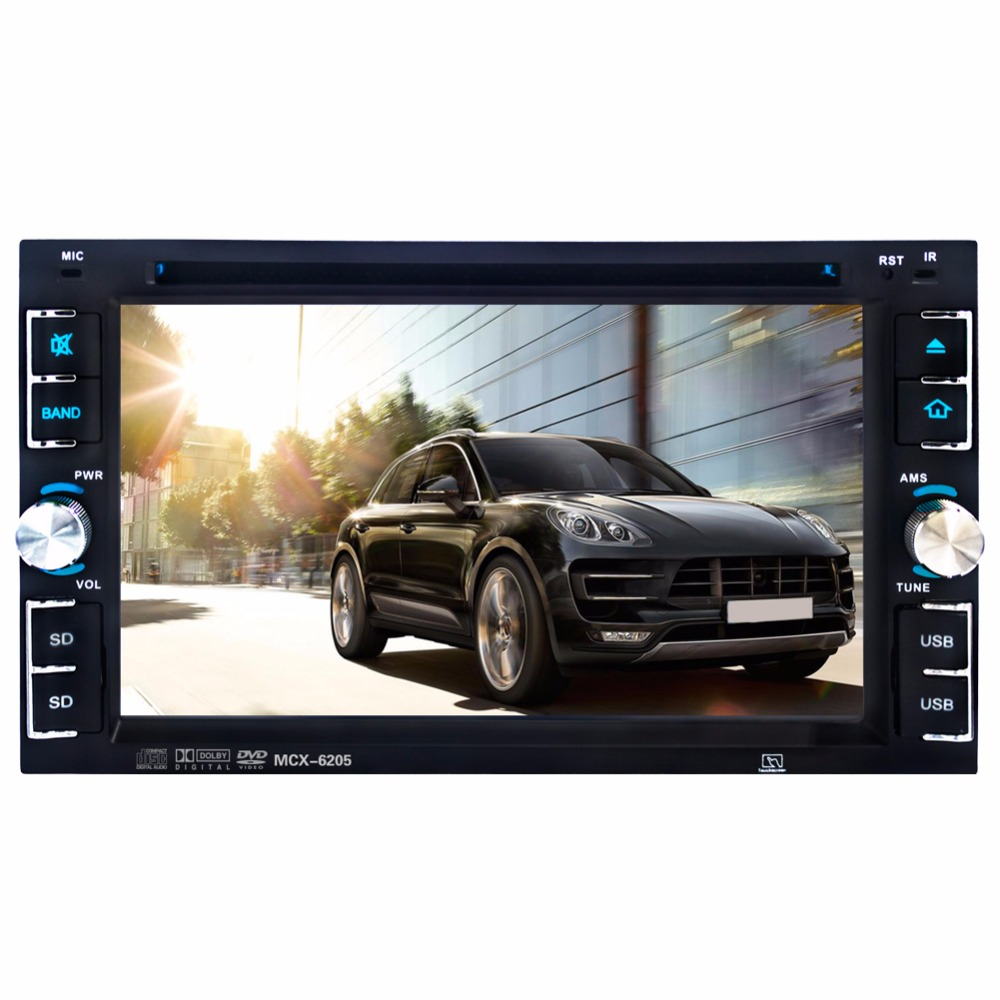 Camera+2 Din 6.2 Inch Car Stereo Radio Multimedia Player Touch Screen Bluetooth Video Player Support DVD/CD-R/CD-RW/MP5/FM/AUX  car radio mp5 mp4 player stereo fm video bluetooth 2 din 6 6 inch fm for android screen mirroring support rear camera dvr input