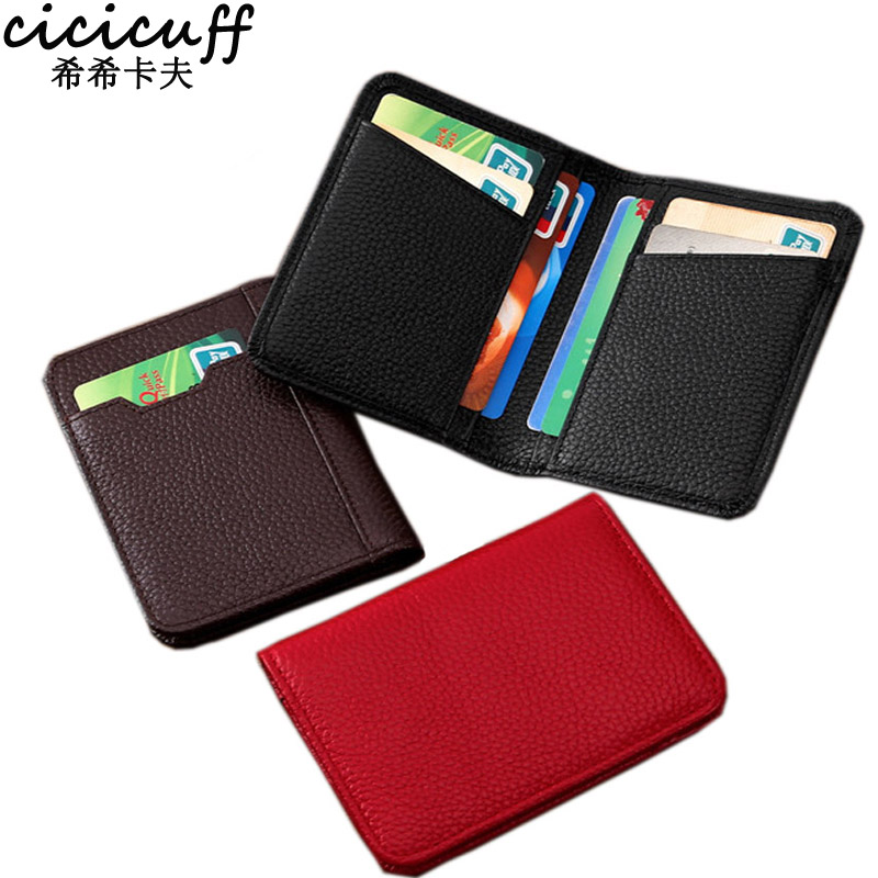 2a4b298360d0 CICICUFF Genuine Leather Credit Card Holder Men Designer Card Wallet Rfid  Mini Car Covers For Documents Case Purse Porte Carte-in Card   ID Holders  from ...