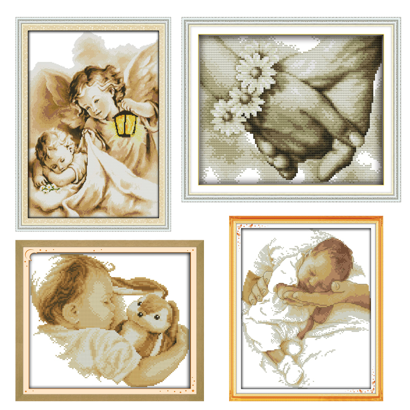 Needlework DIY 14CT 11CT DMC Cross Stitch Sets For Embroidery Kits Portrait Patterns Counted Cross-Stitching Home Decoration
