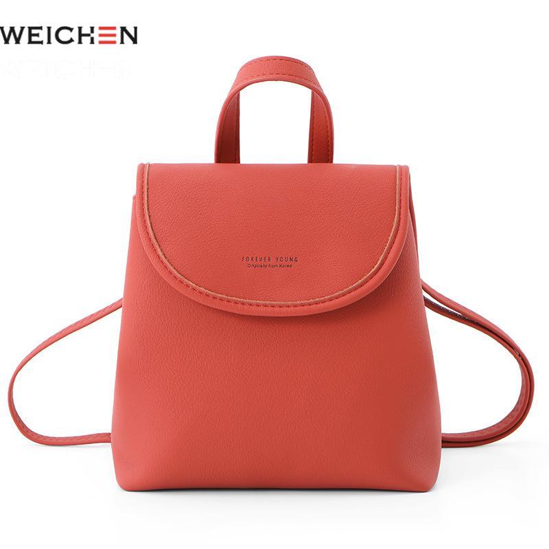 Weichen Small Backpack Women Teenage-Girls Brand Pu for Designer High-Quality