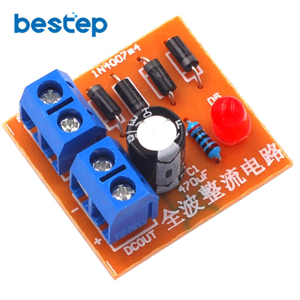 Hot Sale 1n4007 Bridge Rectifier Ac To Dc Converter Full Wave Board Module Diy Kit
