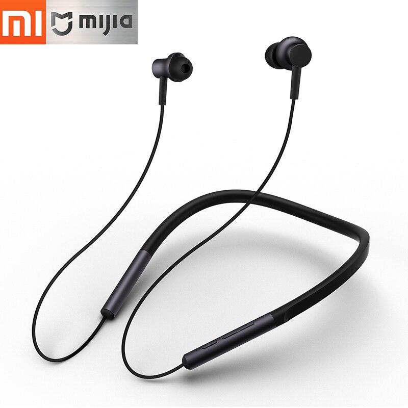 Original Xiaomi Mi Bluetooth Collar Earphone Sport Wireless Bluetooth 4.1 Headset With Mic Dual Driver Lightweight Headphone все цены