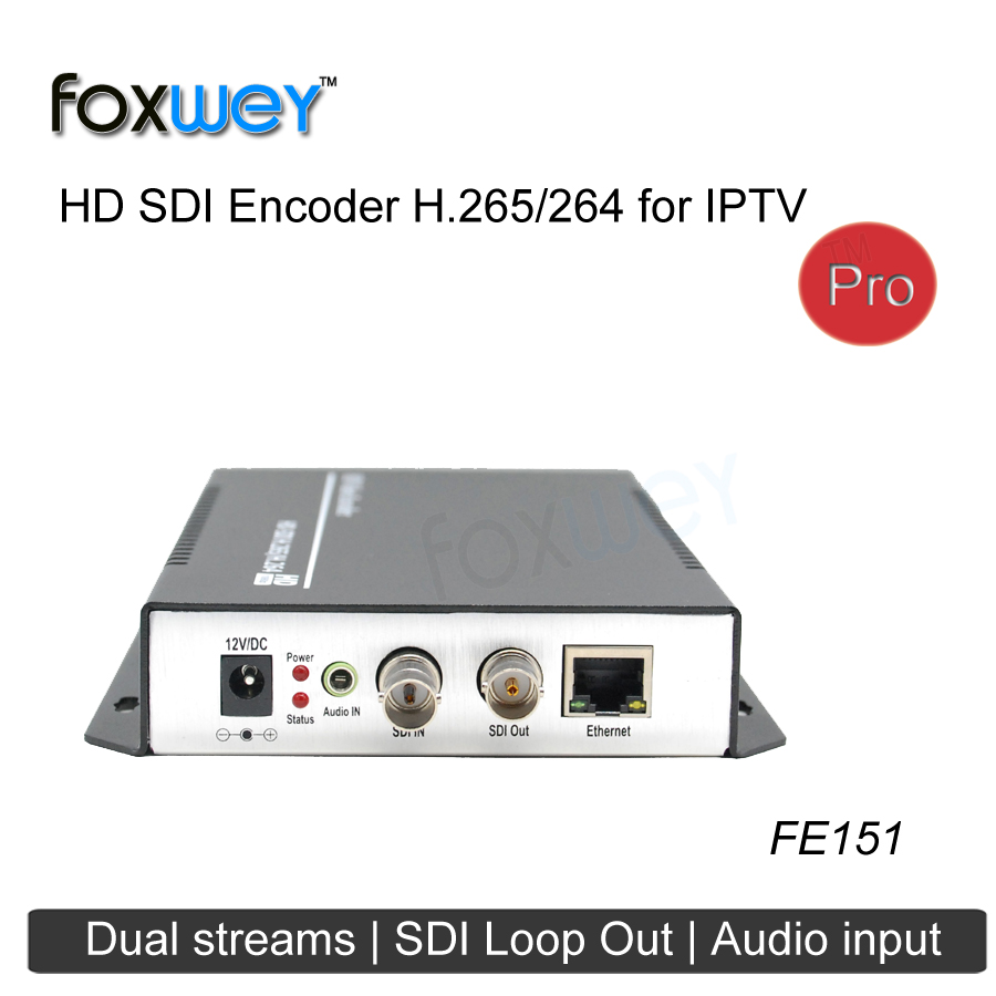 Quality 1080P 60fps HD SDI encoder H264 encoding,rtmp wowza support for IPTV solution live stream , webcasting, broadcast FOXWEY image