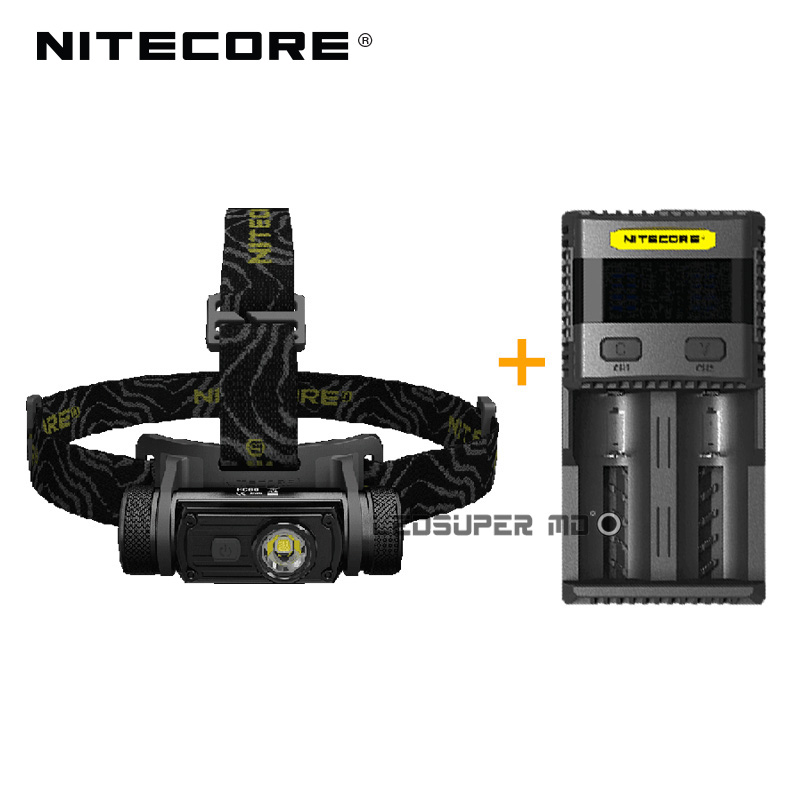 Factory Price Nitecore HC60 1000 Lumens CREE XM-L2 U2 LED USB Rechargeable Headlamp with Charger and 3400mAh Battery