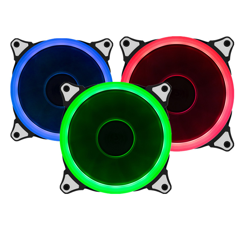 3pcs RGB Case Cooling Fan 120mm With 6pin Controller With RGB LED Ring For Computer Water Cooler Color Adjustable Radiator Fan for asus u46e heatsink cooling fan cooler