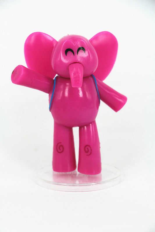 Lote Pcs Pocoyo ELLY pato Loula 5 Pássaro Sonolento PVC Toy Figuras Figuras de Ação Brinquedo Brinquedos da Boneca Caçoa o Presente Bonito para Crianças's Presente Bicho de pelúcia