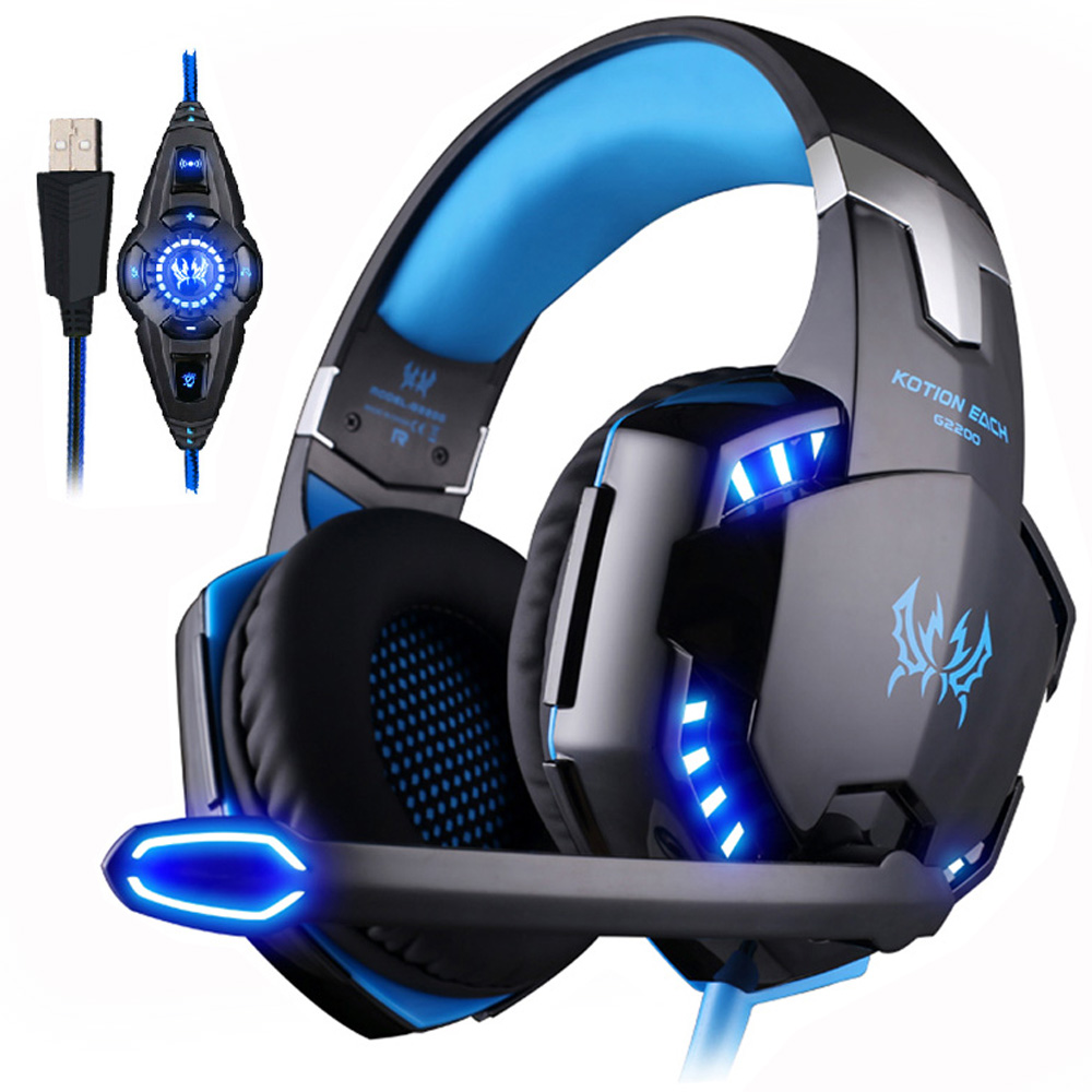 KOTION EACH USB 7.1 Surround Sound Gaming Headphone Stereo game Headset with Microphone Earphone LED for PC Computer laptop kotion each g2000 gaming headset pc gamer headphones headphone for computer auriculares fone de ouvido with microphone led light