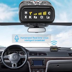 Image 2 - Multi Functie Full Band Scanning Auto Radar Detector V8 Engels Russisch 360 Graden Voice Waarschuwing 16 Band LED Display