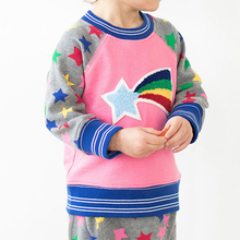 wholesale kids clothes Baby Boys Sweatshirt Winter Girls Tops  Brand Christmas Sweater Children T shirts Rainbow Star Pattern