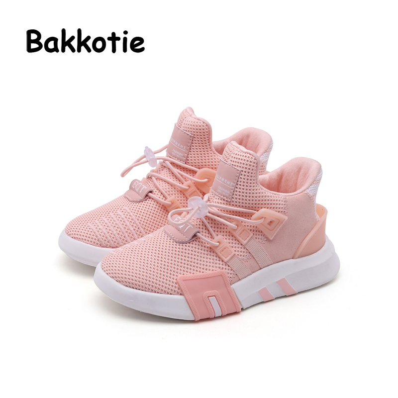 Bakkotie 2018 Spring Fashion Baby Boy Mesh Shoes Children Casual Sneakers Kid Black Sport Shoes Girl Slip-On Shoes Trainer children shoes flat loafers shoes boy girl kids slip on shallow casual shoes non slip sneakers for little kid