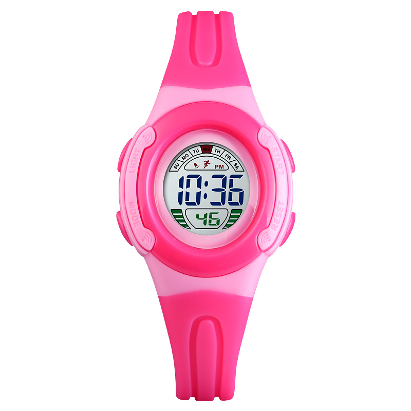 Fashion Children Watches Kids 5Bar Waterproof Digital Wristwatches Back Light Buckle Running Wristwatch Girl Boy Luminous Clock