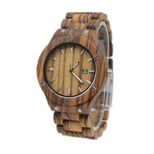 Full Wooden Wristwatch For Men With Wood Watchband Fashion Business Mens Watch In a Gifts Box