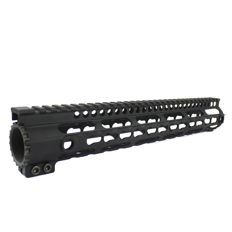 Picatinny Rail CNC Process Anodic Oxidation 12.5inch Keymod system float Handguard rail for m4/m16/ar15 AEG Black free shipping 12 durable mil spec style matte finish lightweight aluminium handguard picatinny quad hunting shooting rail for aeg m4 m16 ar15