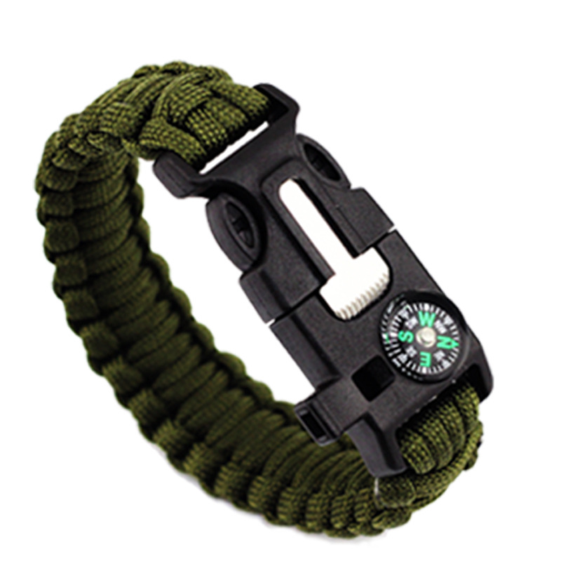 Outdoor Survival Bracelet Men Women Braided Paracord Multi-function Camping Rescue Emergency Rope Bangles Compass Whistle KnifeOutdoor Survival Bracelet Men Women Braided Paracord Multi-function Camping Rescue Emergency Rope Bangles Compass Whistle Knife