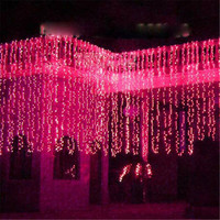 Fairy 8x4m LED droop String Lights Curtain lamps New Year Christmas Garland Chandelier garden street luminaria outdoor decor