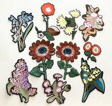 10 arten Nette retro Bunte Applique Blumen Patch Gestickte Nähen auf Kleidung Taschen Handmade Diy Ornament Stoff AC317