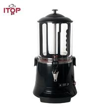 ITOP Black Hot Chocolate Coffee Dispenser Machine ,Baine Marie Milk Tea Hot Drink Dispenser Warm Chocolate Cooker
