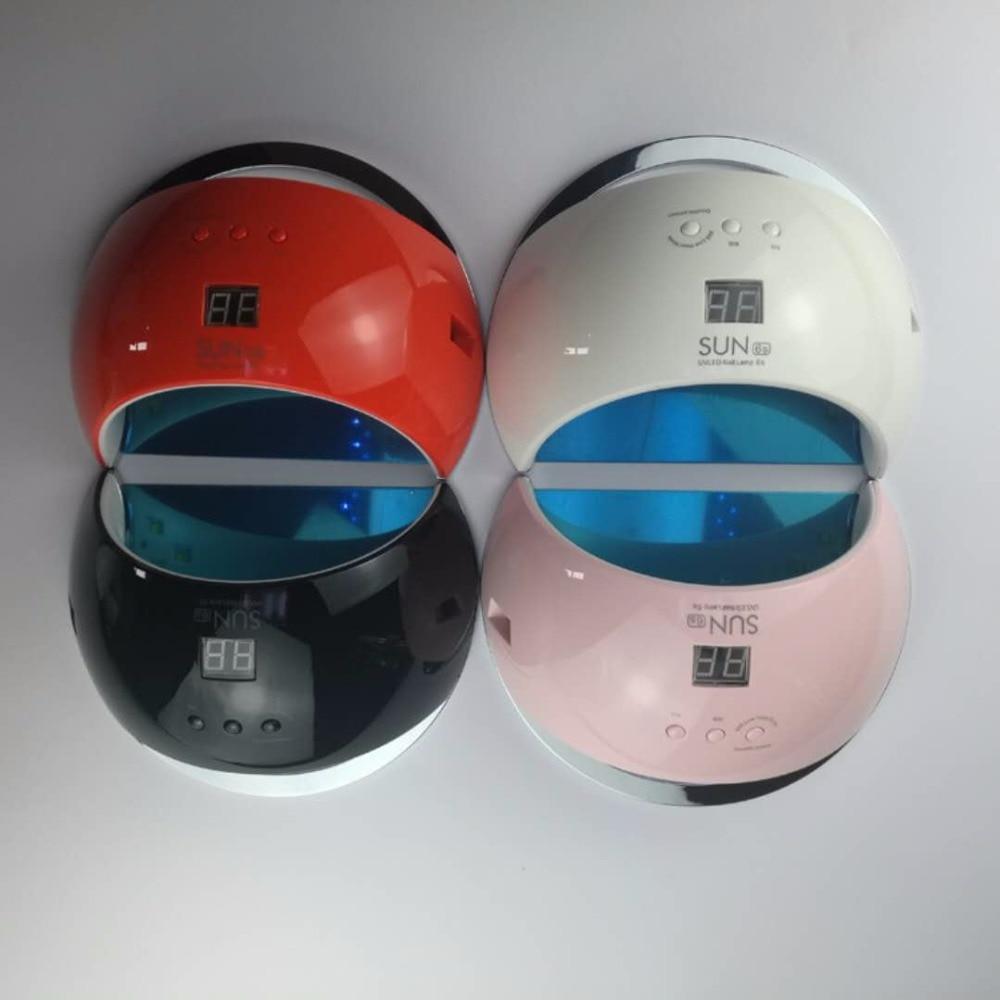 Portable SUN6s 48W Smart UV Lamp LED Nail Dryer Metal Bottom LCD Timer Multicolors for Curing UV led Gel Nail Polish Art Tools