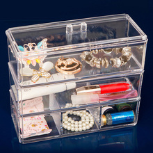 Clear Acrylic Makeup Storage Case Nail Polish Rack Lipstick Cosmetic box Holder Brush  Jewelry Organizer